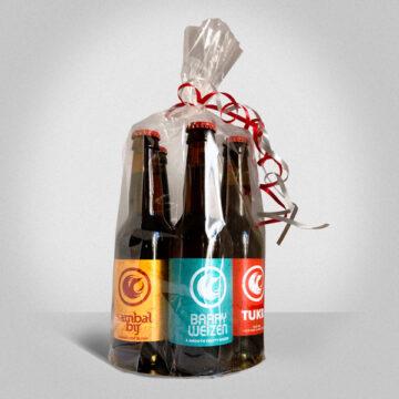 Bierpakket in folie, 5 flessen