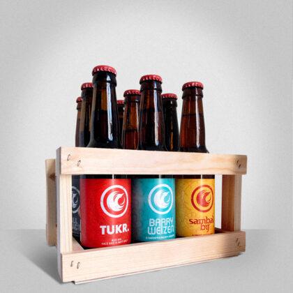 Houten kistje, 9 bieren