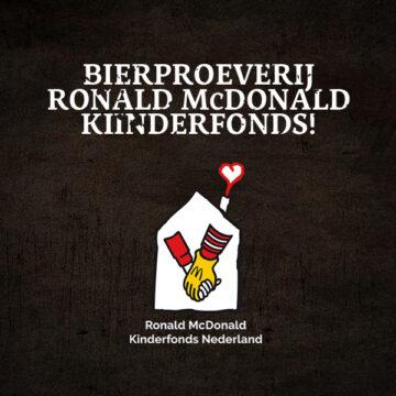 Online bierproeverij voor het Ronald McDonald Kinderfonds